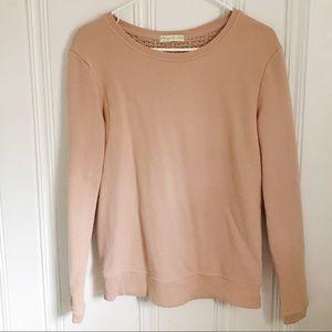 Anthropologie Rose Knit Sweatshirt S